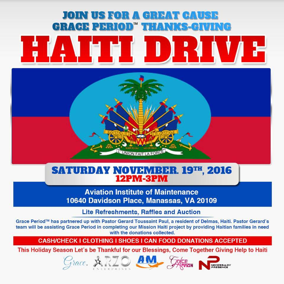 Grace Period Thanks-Giving Haiti Drive